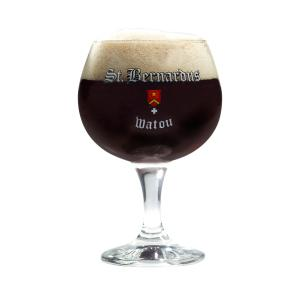 St Bernadus Christmas Ale glass
